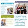 "<strong>NHS Devon A3 Annual Report Summary Fold-out</strong><br>""Naomi&#039;s creativity and responsiveness make her a pleasure to work with."" Pauline McCluskey, Asst CEO/Head of Comms, NHS Devon Commissioning"